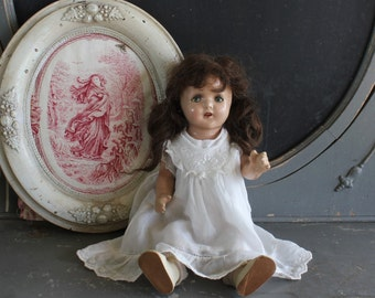 Cutest Antique Composition Girl Doll