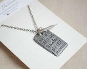 Quote necklace, J.R.R. Tolkien, Wander quote, Explore necklace, Lost and found