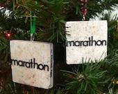 Marathon Runner Tile Ornament