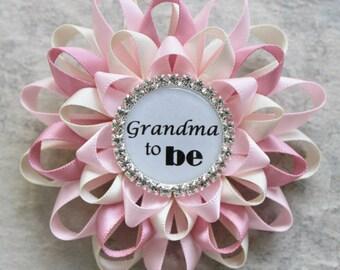 Grandma to Be Pin, New Grandma Gift, Nana to Be, Nana Gift, Gramma, Grammy, Baby Shower Corsage, Abuelita, Abuela, Nonna, Mimi, Mommy to Be