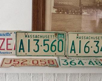 Vintage Massachusetts Licence Plate / 7 Licence Plates
