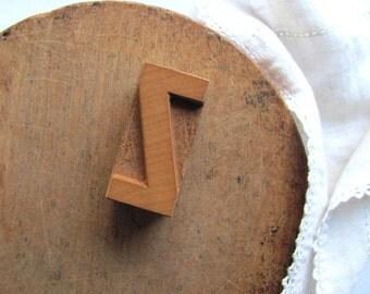 Vintage Letterpress Letter Z Printer Block Z Initial Alphabet Wood Type Industrial Stamp Z Name Graphics Blonde Wood Letter Block Home Decor