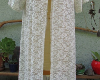 vintage lace robe duster