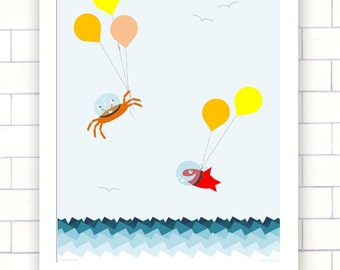 Sea Escapees - Instant Wall Art Digital Download Print- JPEG