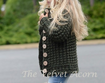 KNITTING PATTERN-The Obsidian Sweater (2, 3/4, 5/6, 7/8, 9/10, 11/12, S, M, L sizes)