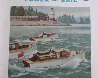 Vintage Magazines Yachting Magazine Sailing Boating Cruising At Sea Power and Sail Boat Ads Adertising SHIPSWORLDWIDE YourFineHouse