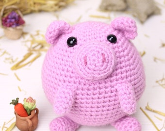 Crochet pattern - Puffy the little pig by Tremendu - amigurumi crochet toy, PDF digital pattern