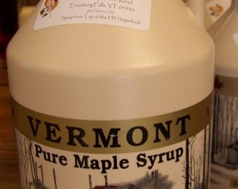 100 percent Pure Vermont Maple Syrup 1/2 gallon/ Organic
