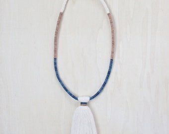 CASCADE necklace | tassel necklace / natural fibre statement necklace
