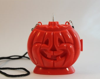 Halloween light up pumpkin necklace