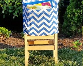Preschool Chair Pockets // Preschool Storage  <<12 inch VALUE>> Daycare Day Care // Cobalt Blue  // End of Year SALE // CoffeeKidsNDolls