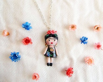 Frida Kahalo necklace. One of a kind.