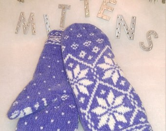Recycled, Repurposed, Upcycled Wool and Cotton Sweater Mittens