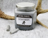 Mythos Candles 8oa Lycanthrope (Leather & Black Sea) Strong Scented Soy Candle