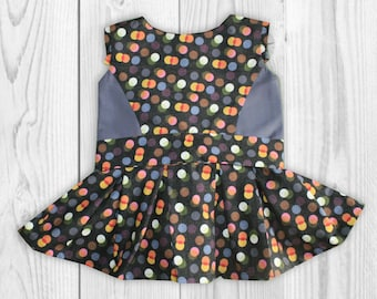 Birthday Outfit For Girls - Toddler Dress - Girls Holiday Party Outfit - Baby Girl Dress - Polka Dot Dress - Girls Birthday Dress - Clothes