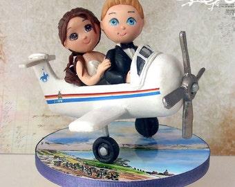 Wedding cake topper - plane