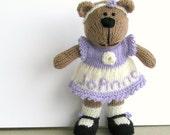 Personalized Name - Hand Knitted Toy Bear - Stuffed Plush Bear - Stuff Animal Toy - Plush Doll - Child Toy - Knit Toy - Kids Toy - JoAnna