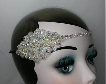 1920s wedding, great gatsby, headddress, headpiece, headband, FREE SHIPMENT, sale, homecoming, gatsby dress, accessories