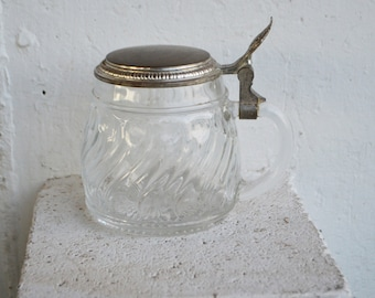 Vintage Decorative Glass Container, Made in Germany