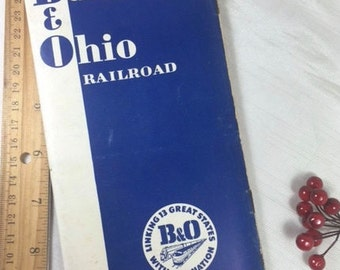 B&O Railroad Train Time Table - Baltimore and Ohio 1953 Railway System