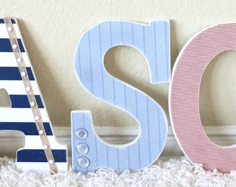 Custom Wall Letters, Boy Nursery Name Decor, Nursery Letters, Personalized Baby Gift, Kids Wall Art, Wall Hanging,  The Rugged Pearl