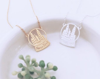 NYC Necklace, New York Necklace, City Necklace, NYC Jewelry, Skyline Necklace