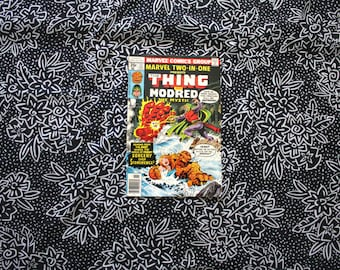 Marvel Two In One #33. The Thing And Modred The Mystic Vintage 1970s Bronze Age Comic Book. Rare Fantastic Four Two In One