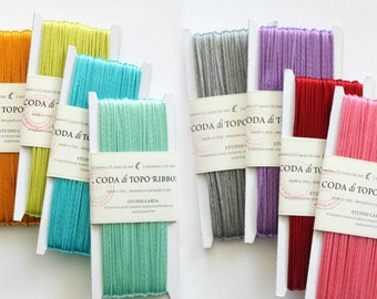 21 Yards - 3mm Rat-Tail Ribbon - On a Wooden Spool - Rat Tail Cord - 100% Rayon Rat Tail Cord - Rattail Cord - Choose your Color - On Sale