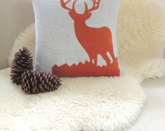Deer Pillow Cover - Cabin Chic