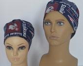 New England Patriots Scrub Cap, Surgery Cap,  Scrub Hat, Chemo Hat, Dental Cap, Vet Cap, Operating Room Cap