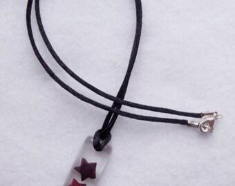 Dark Purple Origami Star Clear Resin Necklace
