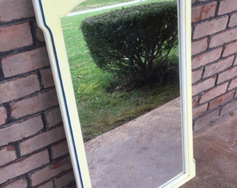 Large Vintage Mirror, Paint to Order, Custom Painted, Hall Mirror, Bathroom Mirror, Vanity Mirror, Entryway Mirror, Wall Mirror, Rectangle