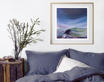 "Landscape Painting Fine Art Print of Original Oil // ""Looking Up"""