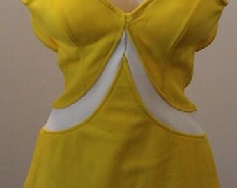 Jantzen 1960s One-Piece Swimsuit Bathing Suit Sz M/L