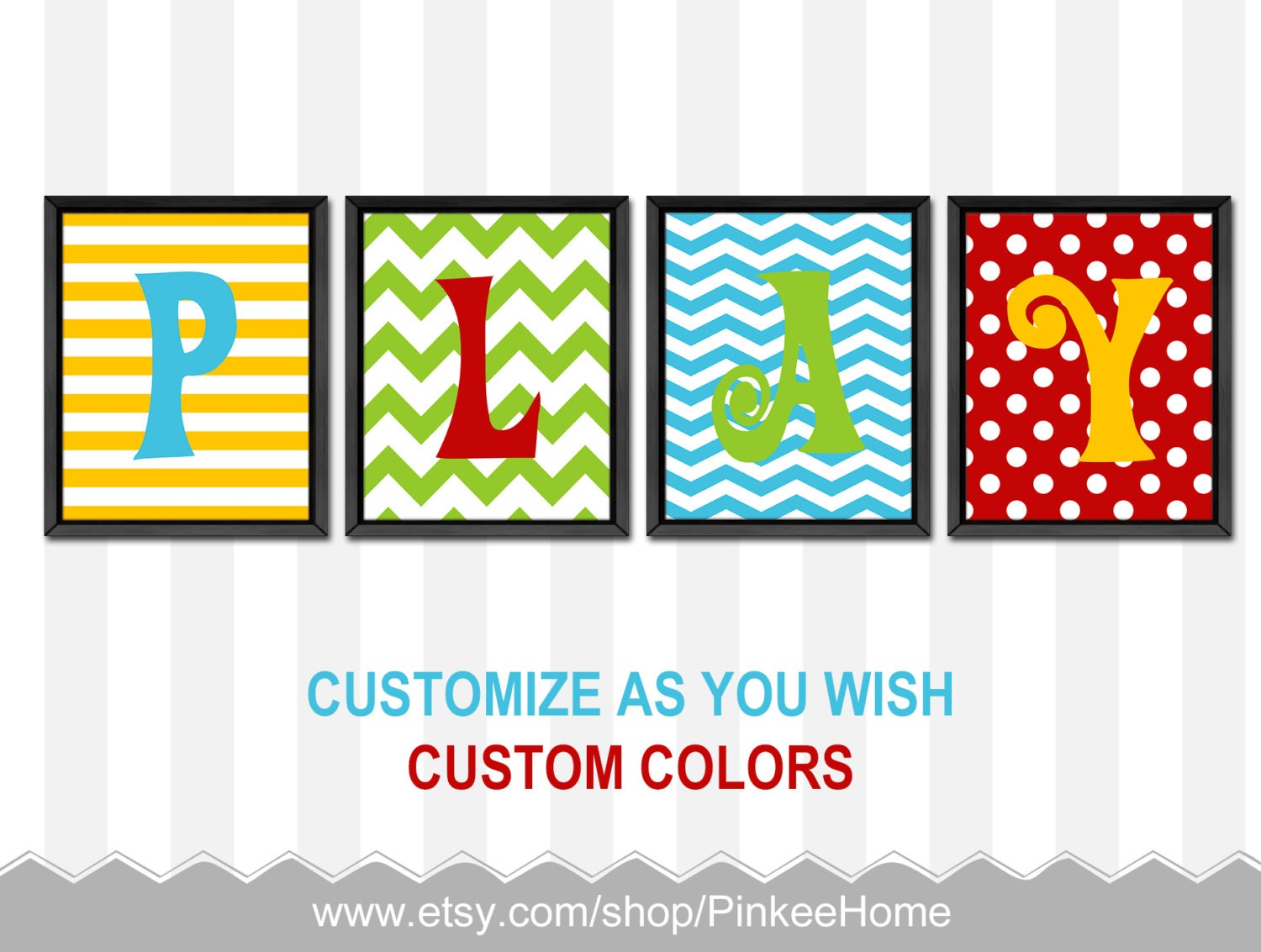 colorful kids wall art playroom decor bold colors play. Black Bedroom Furniture Sets. Home Design Ideas