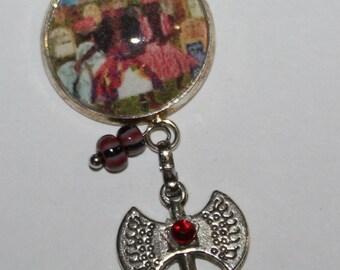 Chango and Oya Orisha Pendant necklace