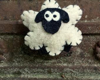 Felt Sheep Magnet