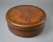 Large Round Box with Lid. Chabitsu. Japanese Antique.