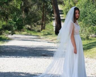 ESTELLE | cathederal  Veil - Mantilla, tulle veil, veil, mantilla, traditional veil