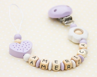 Personalized Dummy Clip - Pacifier Clip - Pacifier Holder - Personalized Baby Gift - Christening Gift - Baptism Gift - Dummy Clip