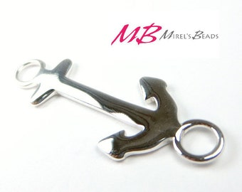 33mm Sterling Silver Anchor Link, Large Nautical Connector