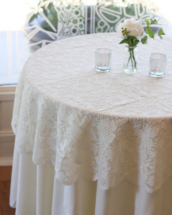 ivory lace tablecloth 60 inches round lace table overlays