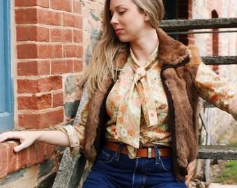 Bohemian Fur Coat - Winter Fur Coat - Winter Coat For Women - Short Fur Coats For Women - Fur Coat - Fur Coat Rabbit - Fur Vest - Fur Gillet