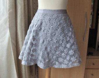 lavender Adorable / Cute / Kawaii lilac flowers skater skirt purple small dolly lolita fashion girly
