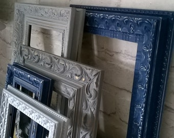 Vintage Modern Style Shabby Chic Picture Frames x 5 Made To Order