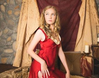 Cersei Lannister Inspired Slip Teddy Luxury Lingerie