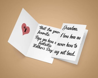 grandma card, mother's day card, mothers day, grandmother card