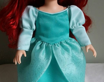 Ariel, the Little Mermaid's green ball gown. Fits 16 inch Disney Animators Collection dolls.
