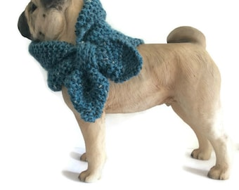 blue Alpaca mix Dog Scarf