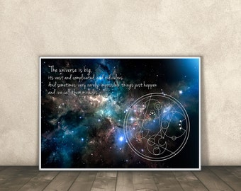 Custom Doctor Who Poster, Your Name or Phrase in Gallifreyan, Dr Who Custom Print, New Dad